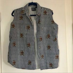 Sweet Vintage Teddy Vest/Tanktop